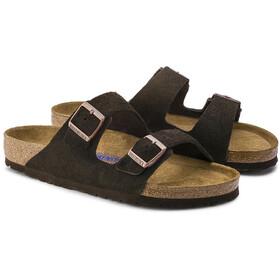 Birkenstock Arizona Sandals Suede Leather Soft Footbed Regular mocca